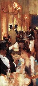 Willard Leroy Metcalf - Au Cafe