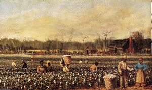 William Aiken Walker - Cotton Picking davanti dei Quartieri