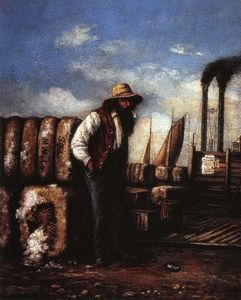 William Aiken Walker - White Man con Cotton Bales su Docks