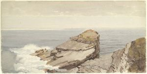 William Trost Richards - Rocce sulla riva