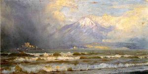 William Trost Richards - Vesuvio inverno