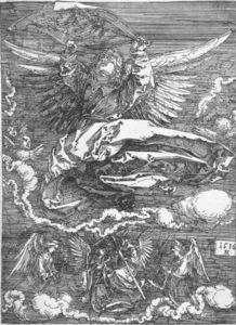 Albrecht Durer - Sudario Spread Out di un angelo