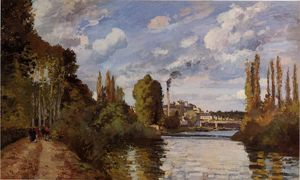 Camille Pissarro - Riverbanks a Pontoise