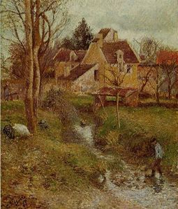 Camille Pissarro - The Brook a Osny