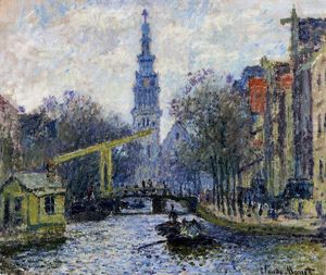 Claude Monet - canale in amsterdam