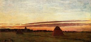 Claude Monet - Grainstacks a Chailly a Sunrise