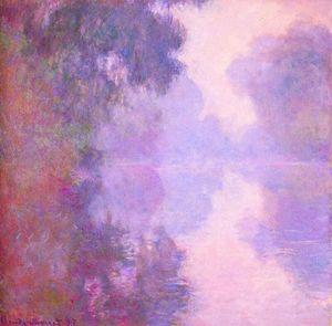 Claude Monet - Misty Morning sulla Senna