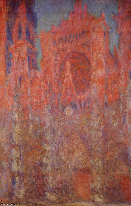 cattedrale di rouen, 1894 di Claude Monet (1840-1926, France) | Copia Pittura | WahooArt.com