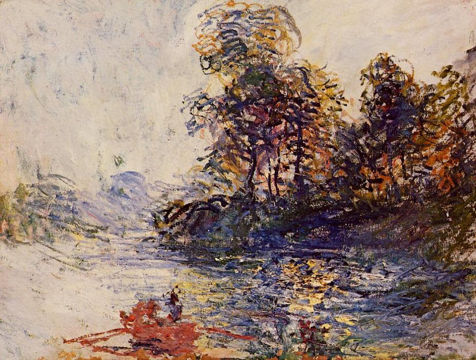 Il fiume, 1881 di Claude Monet (1840-1926, France)