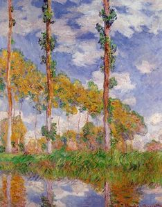Claude Monet - tre alberi in estate