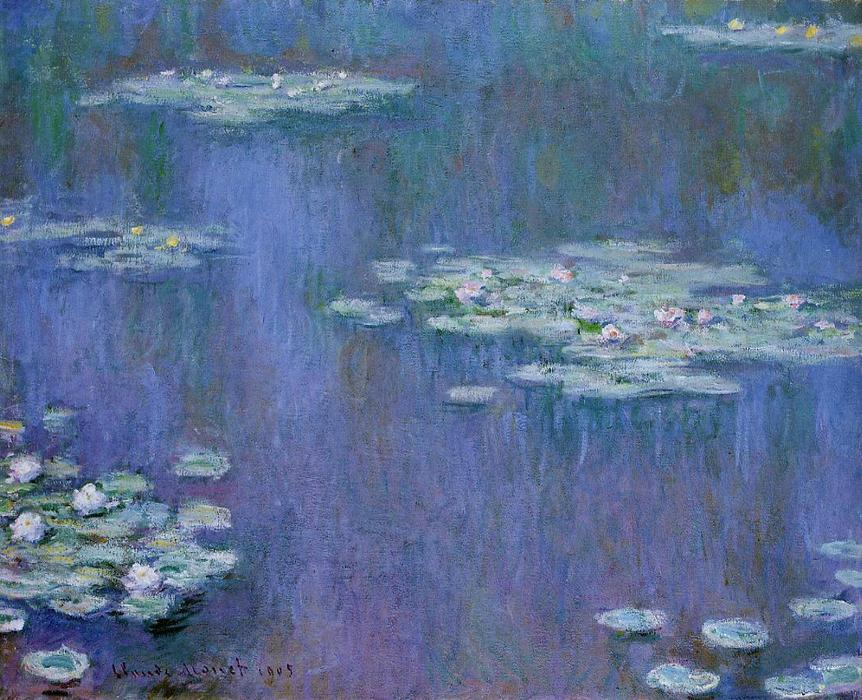 Water-Lilies 13, olio di Claude Monet (1840-1926, France)