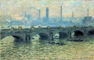 Claude Monet - waterloo ponte Grigio  Tempo