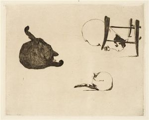 Edouard Manet - Les chats