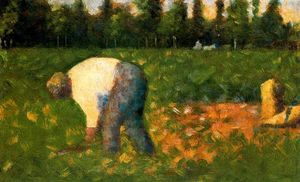 Georges Pierre Seurat - Contadino Laboring