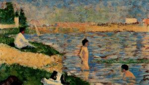 Georges Pierre Seurat - Studio per A Bathing Place at Asnières