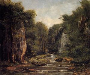 Gustave Courbet - il fiume plaisir fontaine