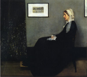 arrangiamento in grigio e nero . Ritratto del Painter's Madre, olio di James Abbott Mcneill Whistler  (ordinare Belle Arti copia pittura James Abbott Mcneill Whistler)