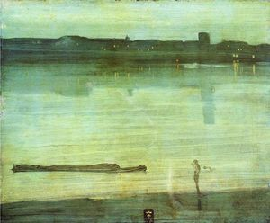 James Abbott Mcneill Whistler - Notturno in blu e verde
