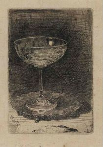 James Abbott Mcneill Whistler - il vino-vetro