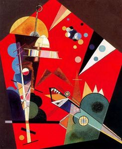 Wassily Kandinsky - Tensione in rosso