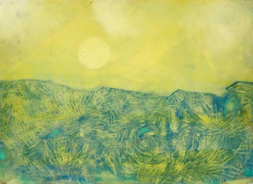 Paysage jaune di Max Ernst (1891-1976, Germany) | WahooArt.com