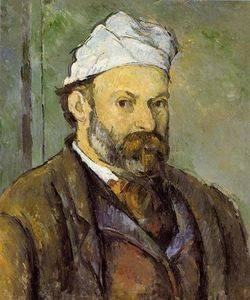 Paul Cezanne - Autoritratto in un White Cap