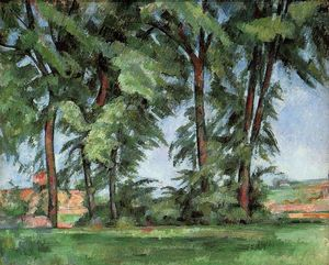 Paul Cezanne - Tall Trees del Jas de Bouffan