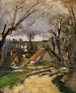Paul Cezanne - The Cottages di Auvers
