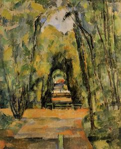 Paul Cezanne - Alberata corsia a Chantilly