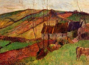 Paul Gauguin - Cottage sul monte Sainte Margherita