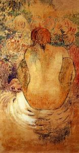 Paul Gauguin - Crouching Marchesi Donna Vedere dal Indietro