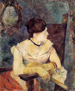 Paul Gauguin - Madame Mette Gauguin in un abito da sera