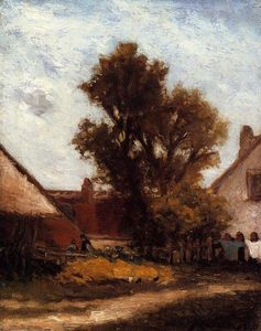 Paul Gauguin - L Albero in Farm Yard