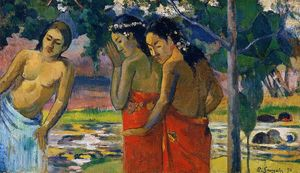 Paul Gauguin - tre tahitiano donne