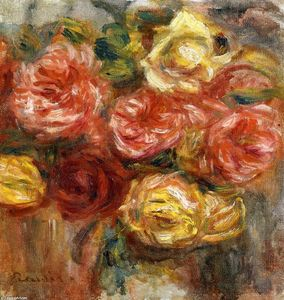 Pierre-Auguste Renoir - bouquet di rose in un vaso