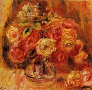 Pierre-Auguste Renoir - rose in un vaso
