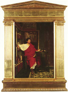 Lawrence Alma-Tadema - A Roman Scribe Scrittura Dispatches