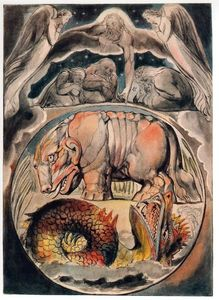 William Blake - Behemoth e Leviathan