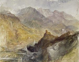 William Turner - Chatel Argent, in Val d Aosta, vicino a Villeneuve