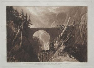 William Turner - Piccolo Devil-s Ponte sul russ , sopra altdorft , Svizzera