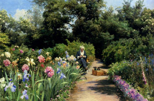 Peder Mork Monsted - Knitting In The Garden