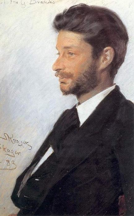 Georg Brandes, olio di Peder Severin Kroyer (1851-1909, Norway)