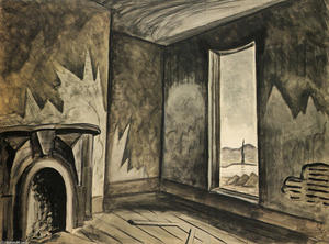 Charles Ephraim Burchfield - in un `deserted` casa