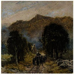 David Cox - Un Funerale a Bettwys-Y-Coed Chiesa , nord galles
