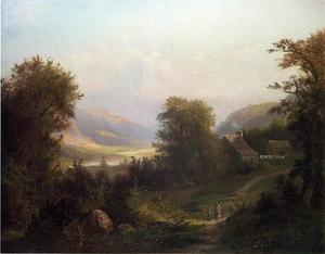 David Johnson - hudson river scena