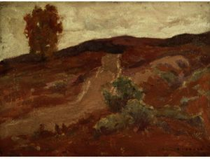 Eanger Irving Couse - strada oltre collina