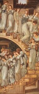 Edward Coley Burne-Jones - le scale d oro ( aka 'The King's Wedding' oppure 'Music sul Stairs' )