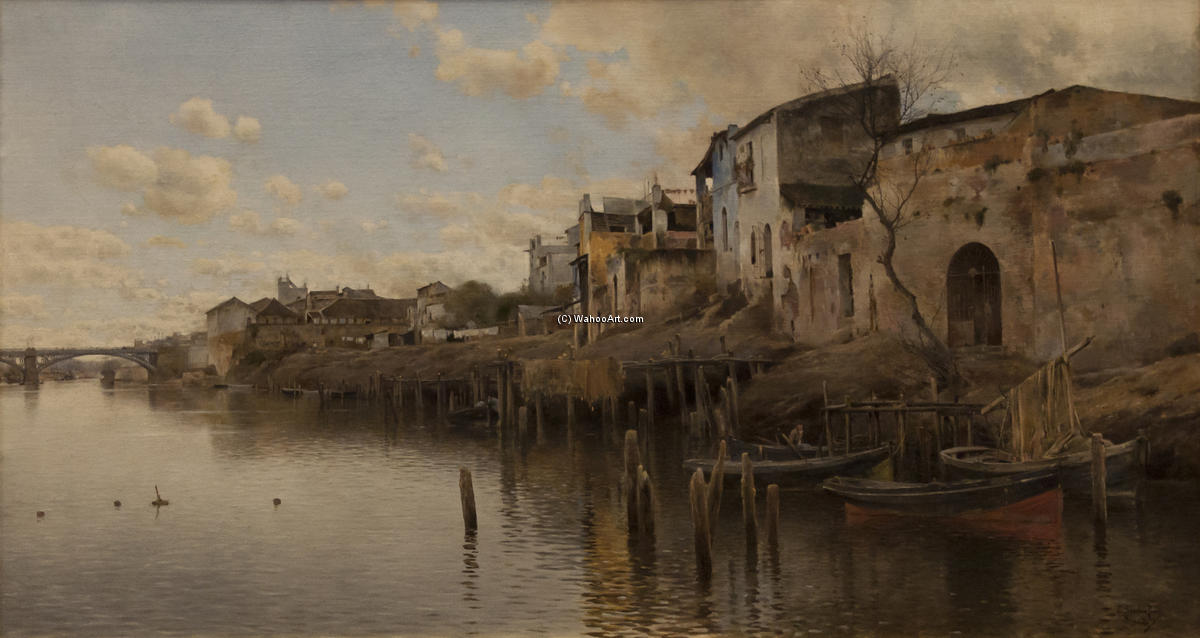 Triana di Emilio Sanchez-Perrier (1855-1907, Spain)