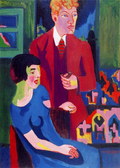 Alber Müller e sua moglie di Ernst Ludwig Kirchner (1880-1938, Germany)