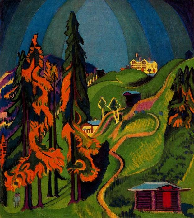 Paesaggio d autunno di Ernst Ludwig Kirchner (1880-1938, Germany)